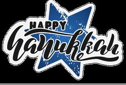 Happy Hanukkah Lettering Sticker