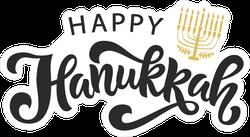 Happy Hanukkah Menorah Holiday Sticker