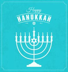 Happy Hanukkah Menorah Sticker