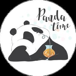 Happy Hour Panda Time Sticker