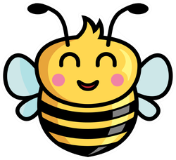 Happy Little Bee Sticker
