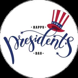 Happy President's Day Text Sticker