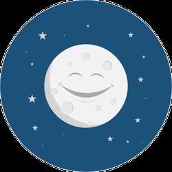 Happy Smiling Moon Sticker