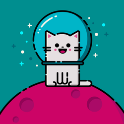 Happy Space Cat Sticker