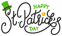 Happy St. Patrick's Day Lettering Sticker