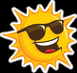 Happy Sun with Sunglasses Sticker