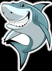 Happy Toothy Shark Sticker
