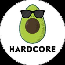 Hardcore Avocado Sticker