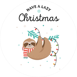 Have A Lazy Christmas Sloth Sticker