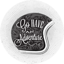 Have An Adventure On The Motorcycle Helmet Sticker