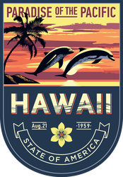 Hawaii Banner Sticker