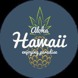 Hawaii Enjoying Paradise Pineapple Sticker