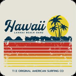 Hawaii Lanikai Beach Oahu Sticker