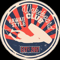 Hawaii Style Wakeboarding Club Sticker