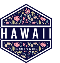 Hawaii Summer Paradise Floral Sticker