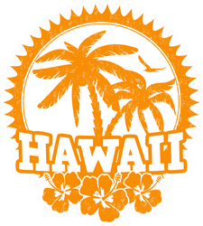 Hawaii Travel Stamp Sticker