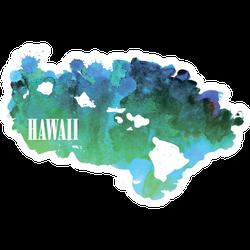 Hawaii Watercolor Sticker