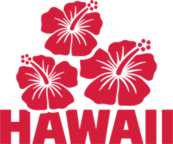 Hawaii With Hibiscus Flowers Sticker