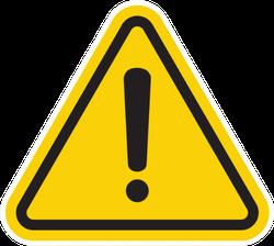 Hazard Warning Attention Sign Sticker