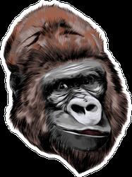 Head Gorilla Drawing Sticker