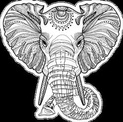 Head Of An Elephant Sticker