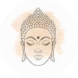 Head Of Buddha Illustration Sticker