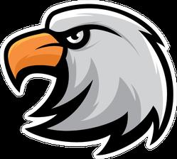 Head of Eagle Mascot Logo Sticker