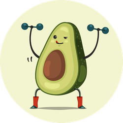 Healthy Weight Lifting Avocado Sticker