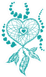 Heart and Feather Dream Catcher Sticker