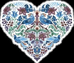 Heart Boho Pattern Floral Silhouette Sticker