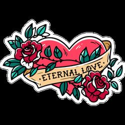 Heart Entwined Eternal Love Tattoo Sticker