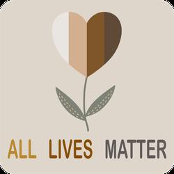 Heart Flower All Lives Matter Sticker