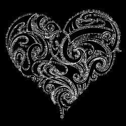 Heart Shape Tattoo Ornament Sticker