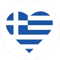 Heart Shaped Greece Flag Sticker