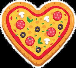 Heart Shaped Pizza Sticker