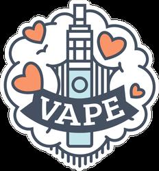 Heart Vape Badge Sticker