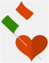 Heart With Italian Flags Sticker