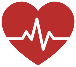 Heartbeat Pulse Icon Medical Sticker