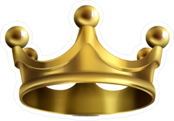 Heavy Gold Crown Sticker