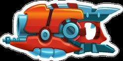 Heavy Retro Space Blaster Gun Sticker