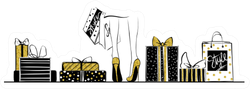 Heels Surrounded By Shopping Bags Fashion Sticker