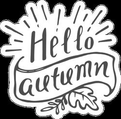Hello Autumn Illustration Sticker