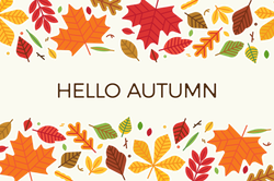 Hello Autumn With Colorful Leaves Sticker