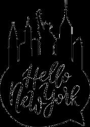 Hello New York Cityscape Speech Bubble Sticker