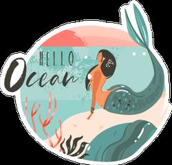 Hello Ocean Sticker
