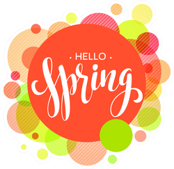 Hello Spring Bubble Stickers