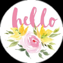 Hello Spring Flowers Sticker