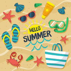 Hello Summer Beach Sticker