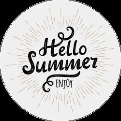 Hello Summer Enjoy Sticker