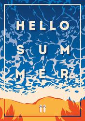 Hello Summer Tide Sticker
